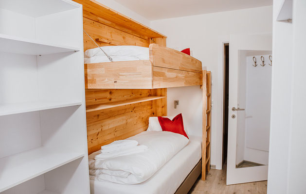 Bedroom 4 Bunk bed Hochwurzen Suite:  for 2-3 persons