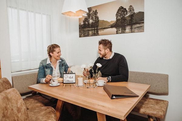 Wohnküche Appartement Reiteralm - Sitzecke Küche