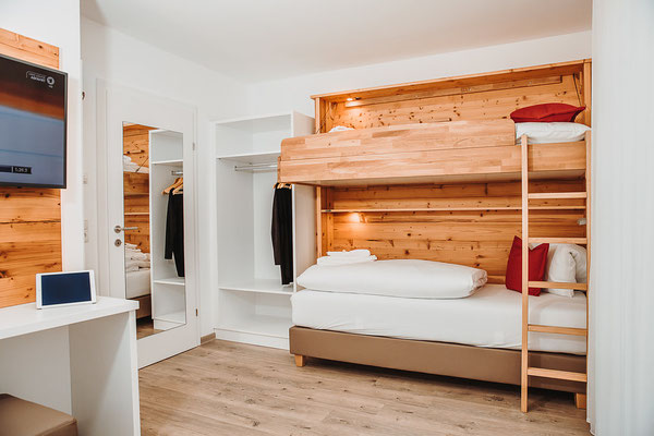 Bedroom 3 Bunk bed Hochwurzen Suite:  for 2-3 persons