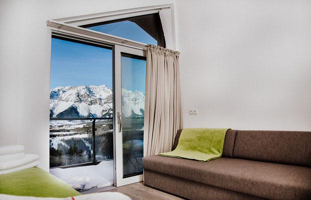 Schlafzimmer 1 Appartement Planai: für bis zu 3 Personen mit Aussicht zum Dachstein