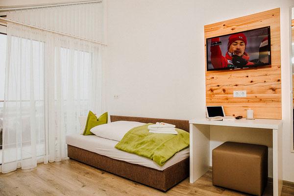 3. Bett das im Schlafzimmer 1 + 2 ist Appartement Planai
