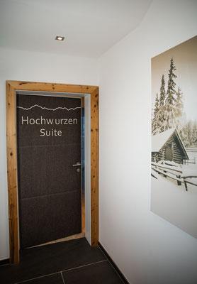 Eingangstür Hochwurzen Suite