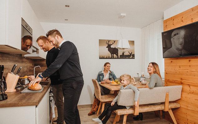 Wohnküche Appartement Kaibling - Essecke + Küche