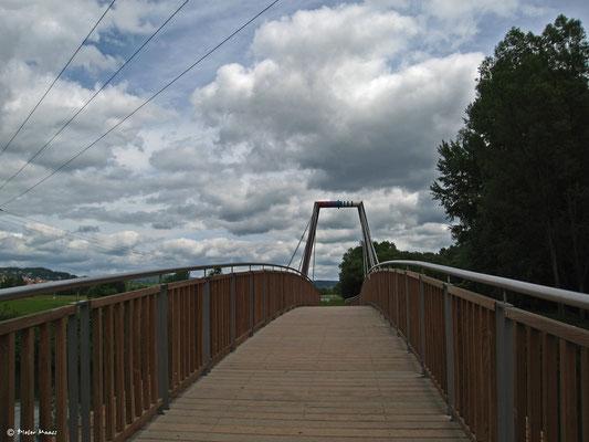 Brücke am Zusammenfluß des Weißen und des Roten Mains, Juni 2010