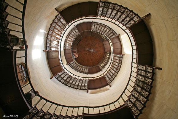 Treppe im Jagdschloss Granitz auf Rügen