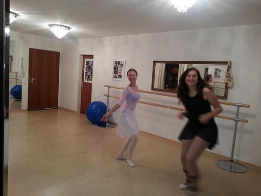 Schauspielunterricht, ein bisschen Spaß darf natürlich nicht fehlen