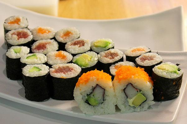 Variationen von Sushi