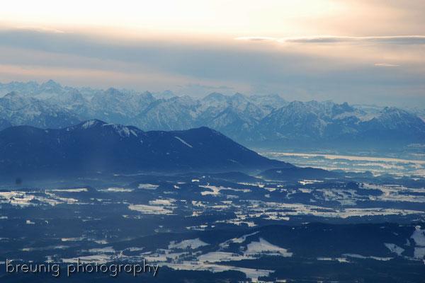 pleasure panorama flight III: view to hohenpeissenberg and füssen