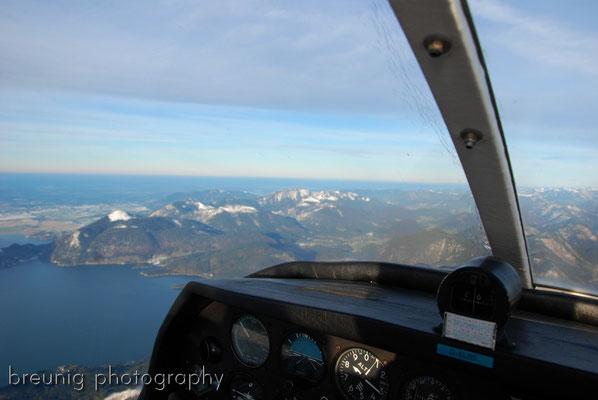 pleasure panorama flight V: crossing walchensee