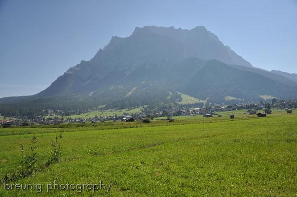 mountain biking: the austrian part of zugspitze