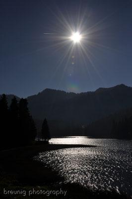 rotwand / mangfall mountains: lake spitzingsee