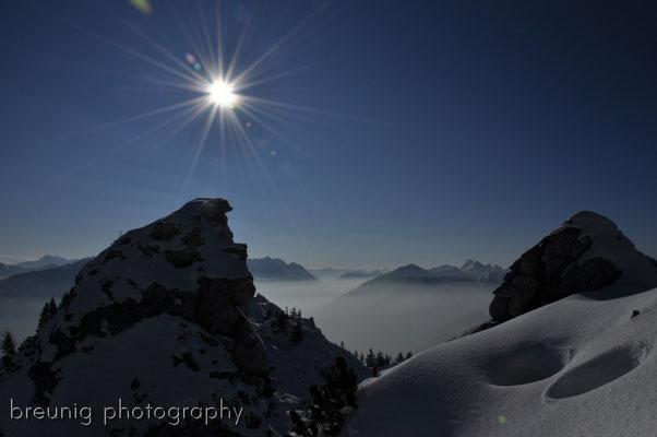 puerschling / unterammergau: sun above the clouds
