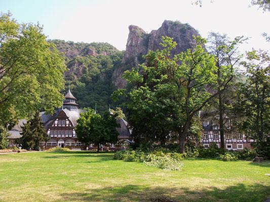 Le Rheingrafenstein vu du parc