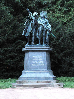 Le monument de Franz von Sickingen et Ulrich von Hutten