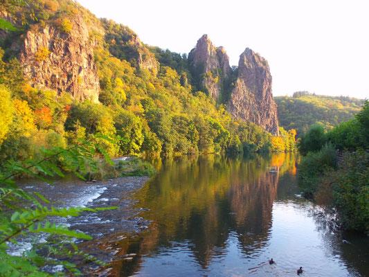 Le Rheingrafenstein en automne