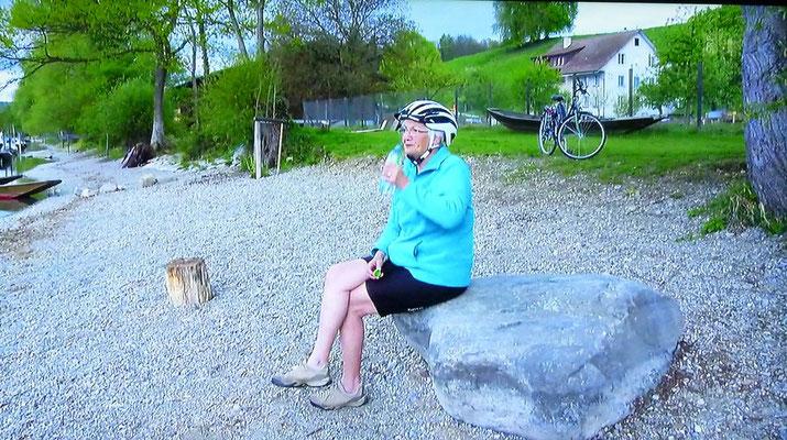 Im Portrait stellte sich Susanne Meier als sportlich vor: Velofahren