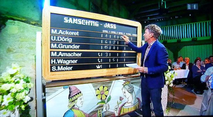 In der Auswertung wird Matthias Akeret bester Jasser der Runde mit Differenz 0.
