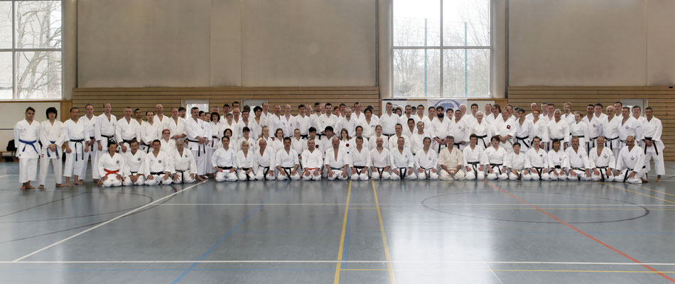 Wado and TSYR seminar with Toby Threadgill (USA) and Koichi Shimura (Japan)  on 17th and  18th  February, 2018 in Berlin. Wado ryu participants