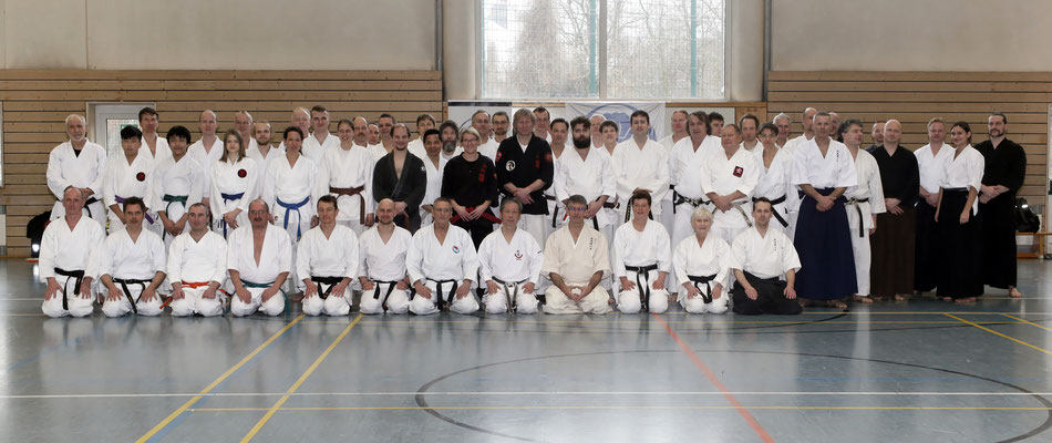Wado and TSYR seminar with Toby Threadgill (USA) and Koichi Shimura (Japan)  on 17th and  18th  February, 2018 in Berlin. German participants