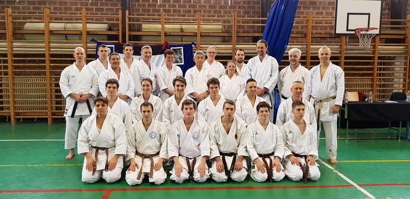 JKF Wado-Kai Seminar in Budapest with Shuzo Imai (9. Dan) and Christina Gutz (7. Dan), 18 - 20 January 2019. JKF Wado-Kai Dan examination (from 1rd to 5th Dan).