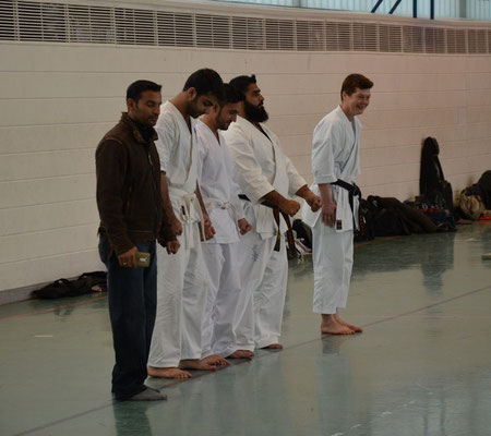 Wado and TSYR Seminar with Toby Threadgill and Kaki Kawano, 21 and 22.02.2015 in Berlin. Participants from Pakistan