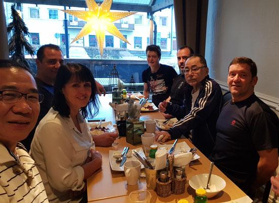 Breakfast with Ohgami sensei.