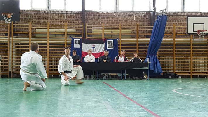 JKF Wado-Kai Seminar in Budapest with Shuzo Imai (9. Dan) and Christina Gutz (7. Dan), 18 - 20 January 2019. JKF Wado-Kai Dan examination (from 1rd to 5th Dan).