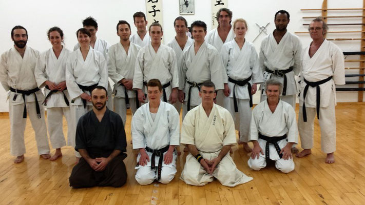 Toby Threadgill as a guest at Shito Ryu Dojo Shin Gi Tai, February 04, 2016 in Berlin