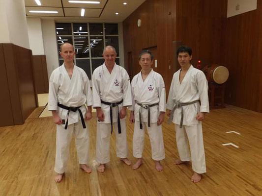 Three Members of Wadokai Deutschland Sohonbu visited JKF Wado-Kai in October 2017.