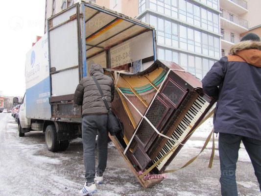 Погрузка рояля