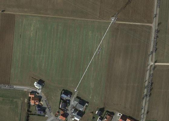 Quelle: Google mit Abstandsmessung 175 m