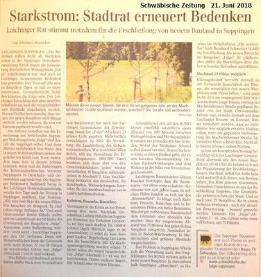 Schwäbische Zeitung 21. Juni 2018