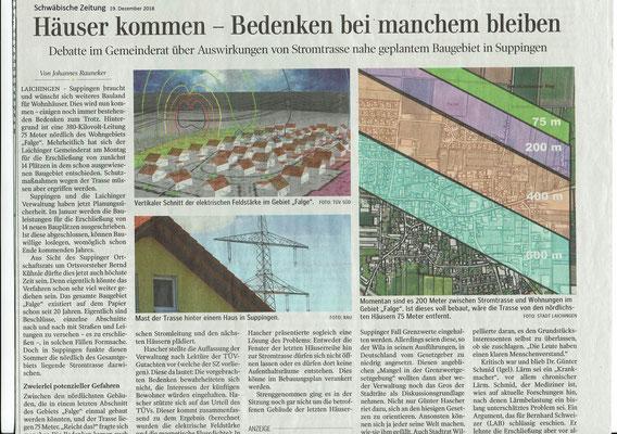 Schwäbische Zeitung 19. Dezember 2018
