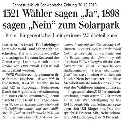 Schwäbische Zeitung 30.12.2019