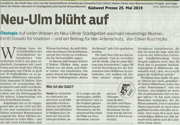 Südwest Presse 25. Mai 2019 Neu-Ulm blüht auf