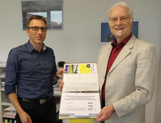 Übergabe weiterer 700 Unterschriften an Herrn Binder am 16. Mai 2019