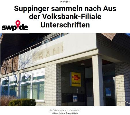 Südwest Presse 25. Feb. 2019 Volksbank-Filiale