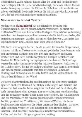 Schwäbische Zeitung 25. Feb. 2019 Lichtstube Suppingen
