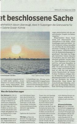 Südwest Presse 19. Dezember 2018 Baugebiet Suppingen