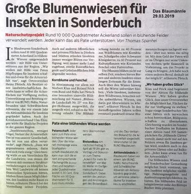 Das Blaumännle 29.03.2019 Große Blumenwiese in Sonderbuch