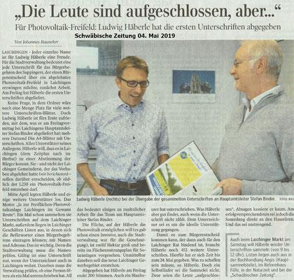 Schwäbische Zeitung 04. Mai 2019