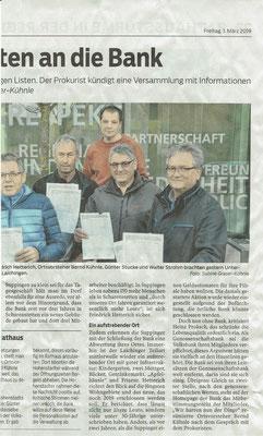 Südwest Presse 01. März 2019 Unterschriftensammlung Volksbank