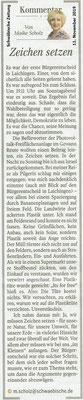 Schwäbische Zeitung 11.11.2019 Kommentar von Maike Scholz