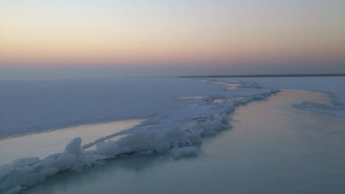 Eisbruch am See
