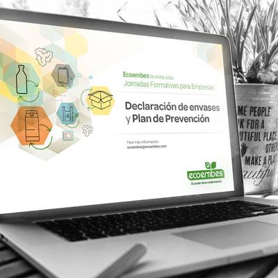 """Presentación """"Declaración de envases y Plan de Prevención"""" para Ecoembes."""