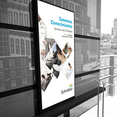 Cartel para la Semana de la Calidad de Schreiber Foods.