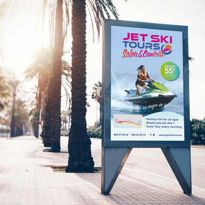 Mupi para Jet Ski Tours.