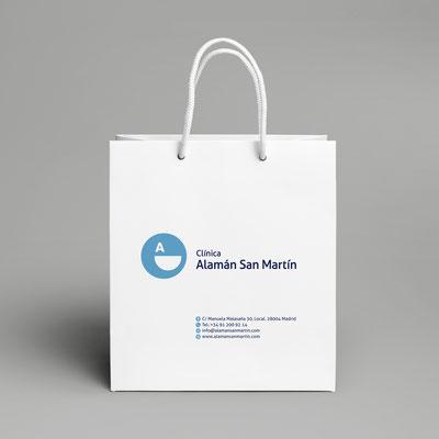 Bolsa de papel Clínica Alaman