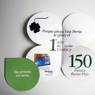 """Folleto """"Trébol"""" para Visa Iberia."""