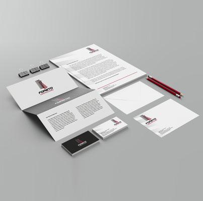 Creación del logotipo y papelería corporativa de Foreto.